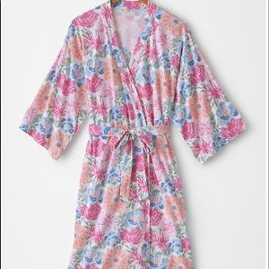 Asian Wrap Organic-Cotton Batwing Kimono Robe